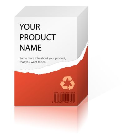 uitpakken: Gedeeltelijk uitgepakt doos met sommige producten (verpakt in rood papier)