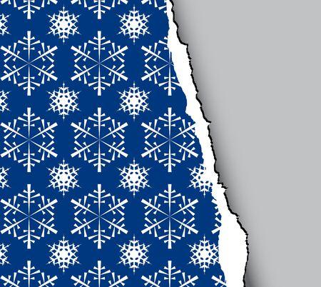 Blue winter - christmas tear paper Stock Photo - 3698666