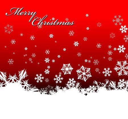 Christmas background with white snowflakes photo