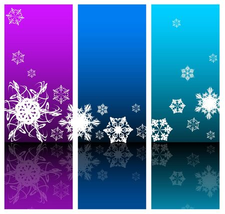 stylization: Winter Abstract background with snowflakes (three colors) Stock Photo