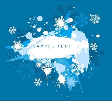 Winter abstract spots background with place for your text photo