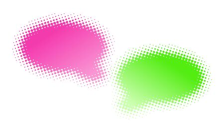 Two halftone bubbles dialog - abstract illustration illustration