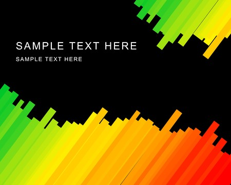 Abstract black background with rainbow stripes photo