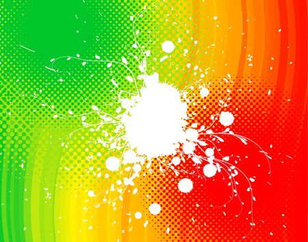 Abstract rainbow background with grunge and floral elements photo