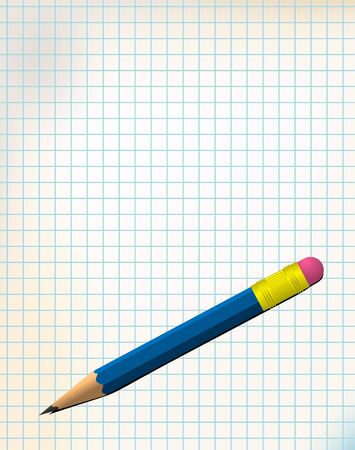 Paper with pencil and place for your message Stock Photo - 4423864