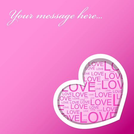 Love card with heart - valentines background photo