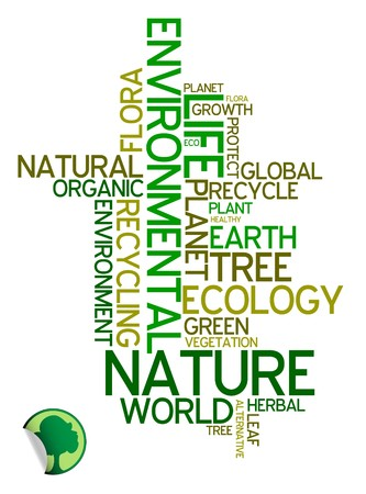 Ecology - environmental poster made from words photo