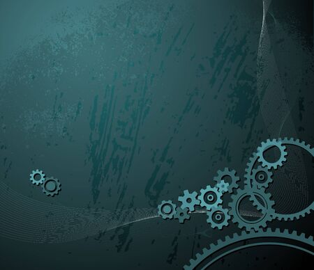 background made from various cogwheels