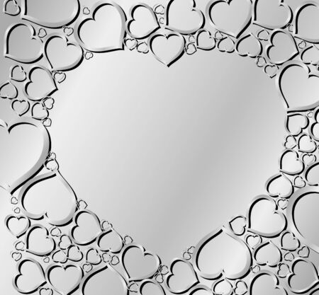yearning: Valentines background made from silver hearts