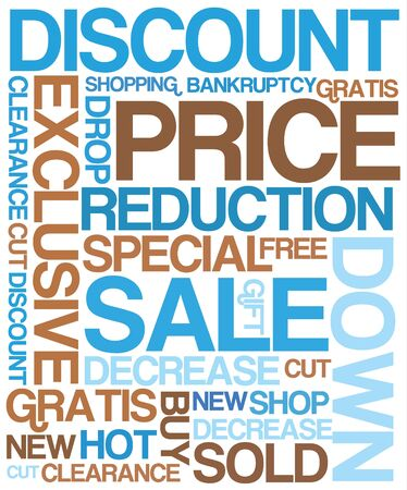 Sale discount poster - blue and brown colors Stock Photo - 4423867