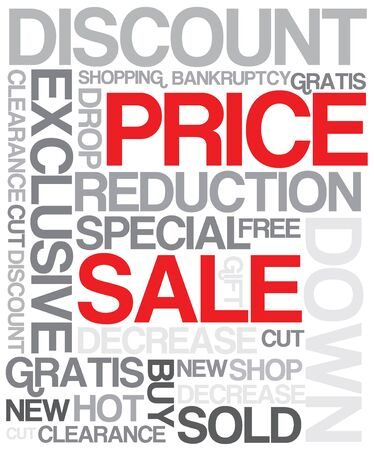 Sale discount poster - black and white version Stock Photo - 4423764