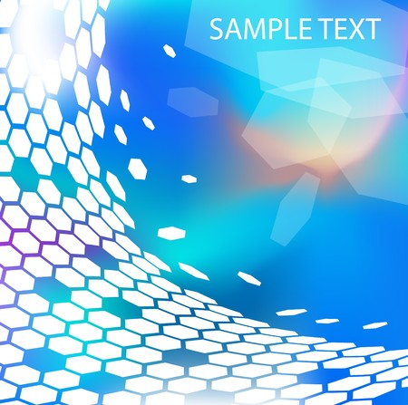Trendy modern technical background with hexagons photo
