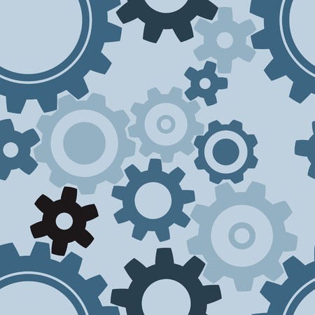 seamless cogwheel pattern - factory background photo