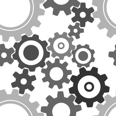 gearshift: seamless cogwheel pattern - factory background