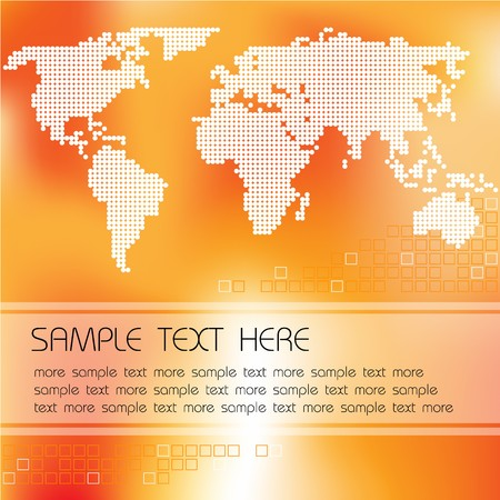 Abstract background with map of the world and place for your text Stock Photo - 4537062