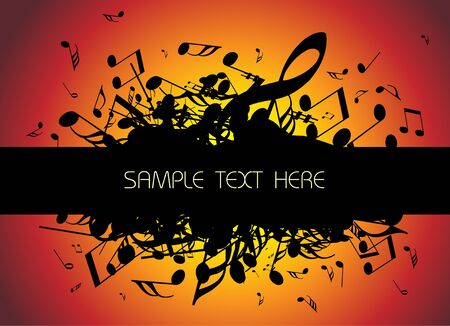 explosion vector: musical background with place for your text (black and white) Stock Photo