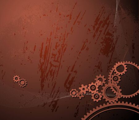 background made from various cogwheels photo