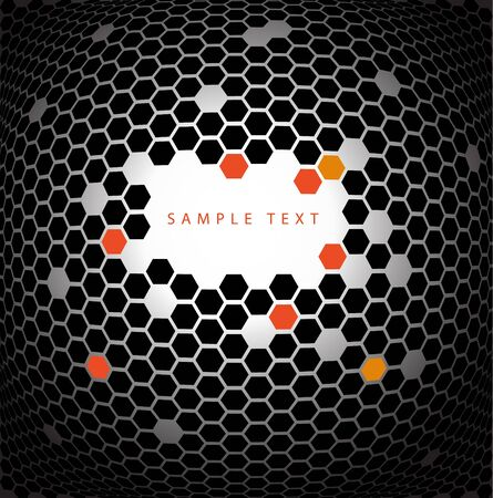 Abstract technical background made from hexagons photo
