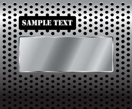 name plates: Metal texture  pattern with holes and place for your text Stock Photo