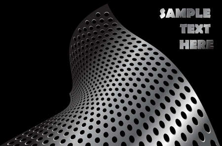 titanium: Abstract metal shape with place for some text