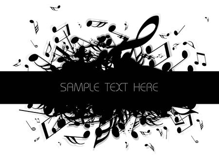musical background with place for your text (black and white) Stock Photo