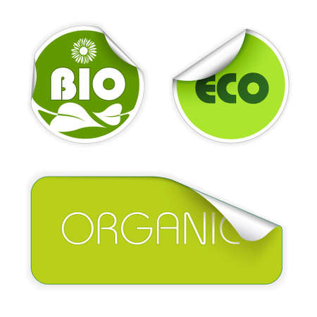 Set of labels for organic, fresh, healthy, bio food Stock Photo - 4858012