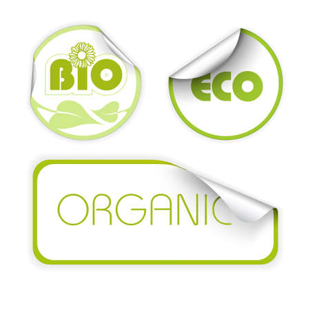Set of labels for organic, fresh, healthy, bio food Stock Photo - 4858005