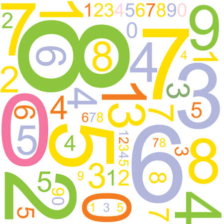 cipher: Abstract background with colorful numbers Stock Photo