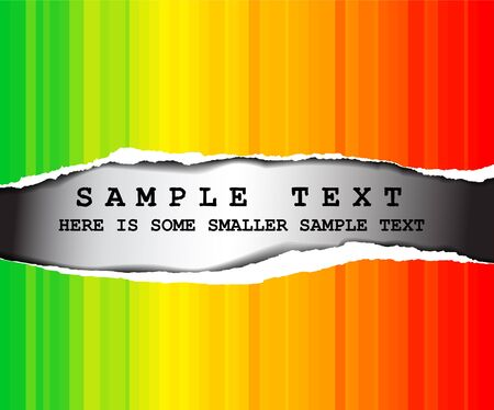 tear off: Abstract rainbow background with place for your text