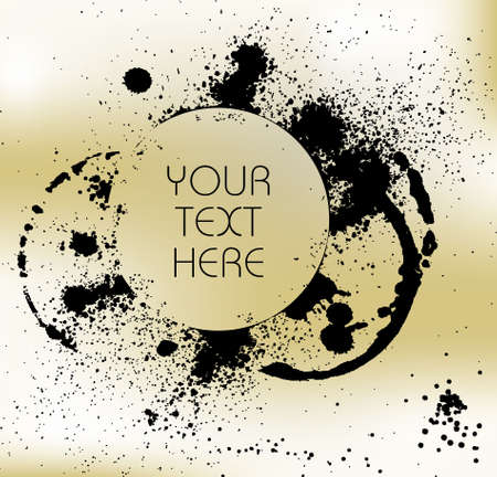 Grunge background with splats and place for your text photo
