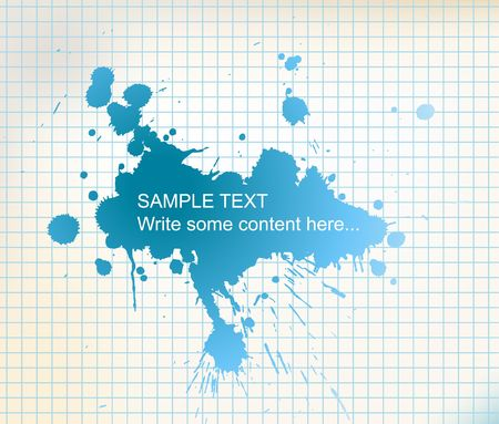 squared paper: fresh wash with place for your text on squared paper