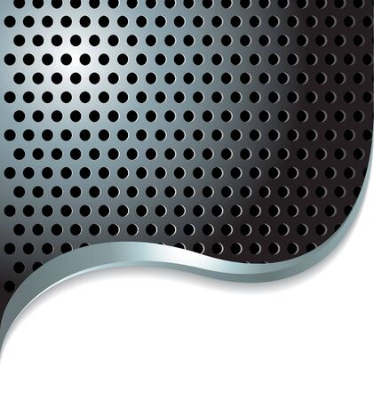 vent: Abstract metal background with place for your text