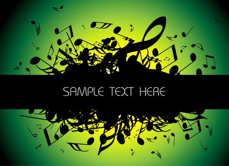 live music: musical background with place for your text