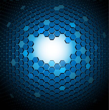 Abstract technical background made from hexagons Stock Photo
