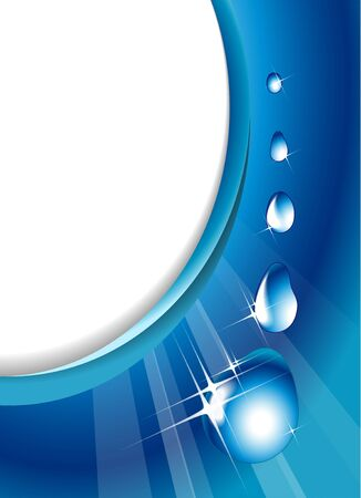 refreshed: Water drops - abstract background with place for your text