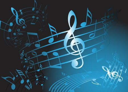 composer: Blue music theme - abstract musical background