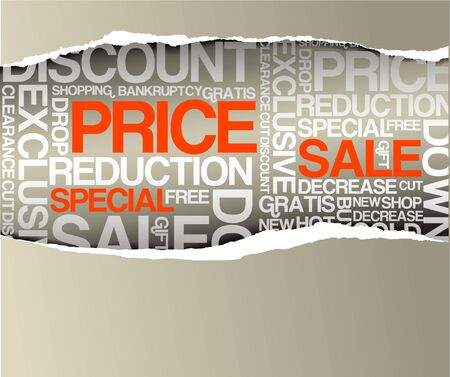 Sale discount advertisement - Hole with texts  (horizontal version) Stock Photo - 5508061
