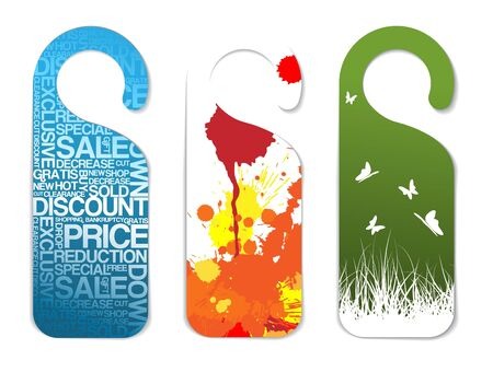 pricetag: Set of various paper tags with place for your text