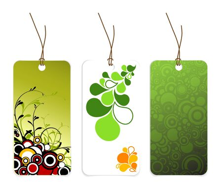 Set of various paper tags with place for your text photo