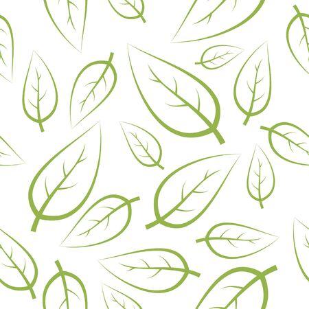 green leafs: Fresh green leafs texture - seamless pattern