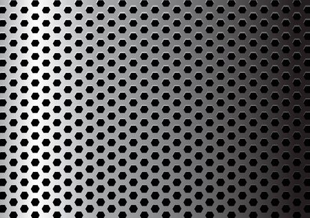 Metal texture / pattern with hexagon holes Stock Photo - 5508094