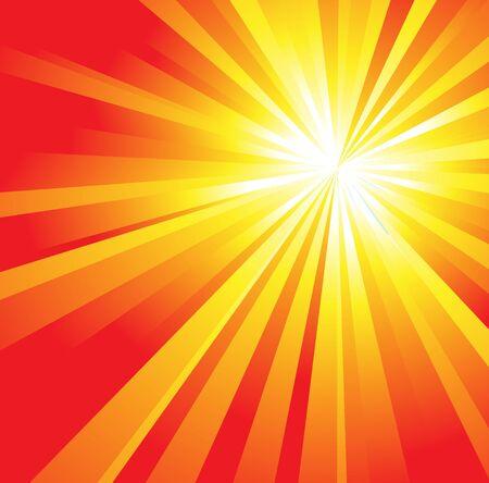 sunstroke: The hot summer sun - vector illustration