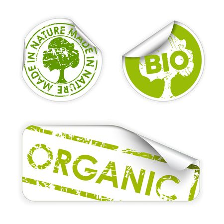 Set of labels with stamps for organic, fresh, healthy, bio food Stock Photo - 5508059