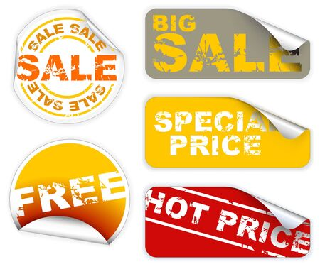 Set of labels badges and stickers for sale and hot price photo