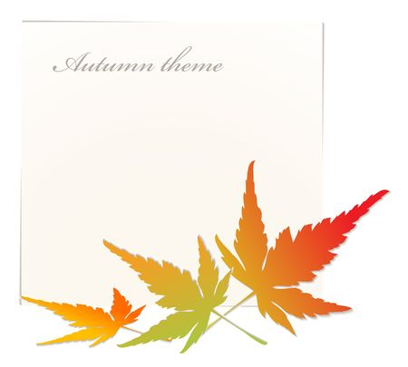 saturate: Autumn background with place for your text Stock Photo