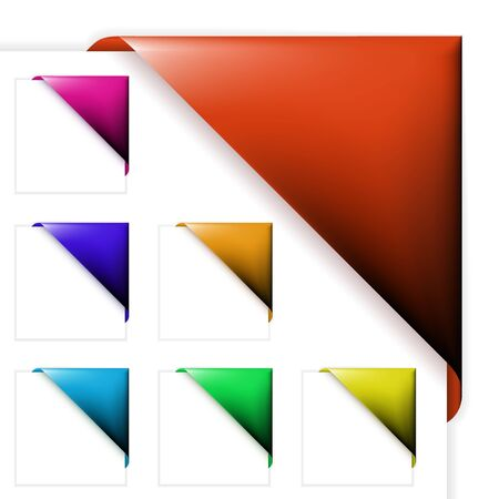 Set of various colorful corner ribbons (without text) Stock Photo - 5539934