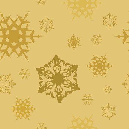 Winter - golden christmas seamless pattern / texture Stock Photo - 5539928