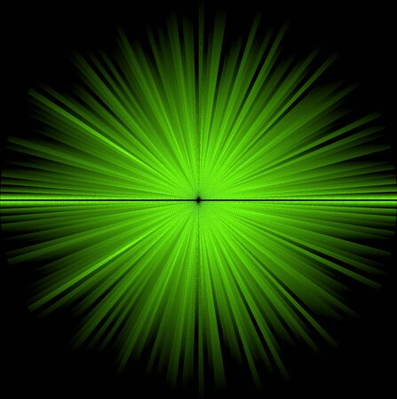 Abstract green cosmic background (big explosion in the space) Stock Photo - 5684190