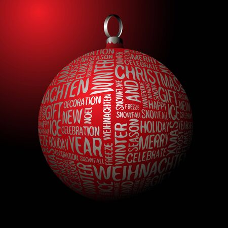 3D Christmas decoration with seasonal silver words Stock Photo - 5684164