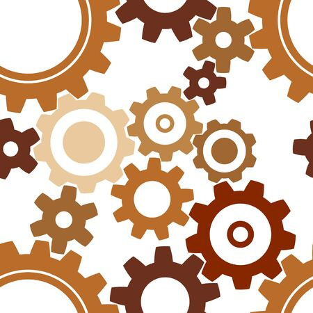 seamless metal: seamless rusty cogwheel pattern - factory background Stock Photo